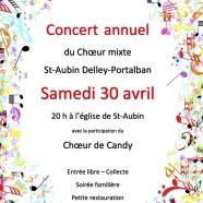 30 avril – Concert choeur mixte St Aubin – Delley – Portalban