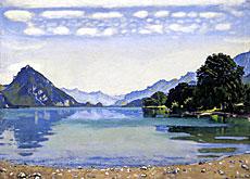 Ferdinand Hodler – Le Lac de Thoune – 1904
